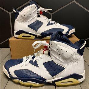 Air Jordan 6 Retro Olympic Blue Shoes Size 14